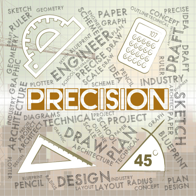 """""""Precision Words Shows Accuracy Accurate And Quality"""" stock image"""