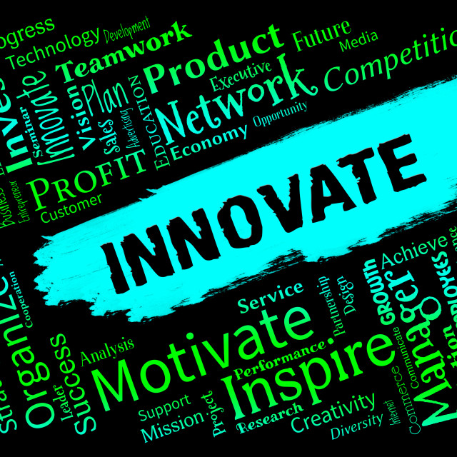 """Innovative Words Represents Creative Breakthrough And Idea"" stock image"