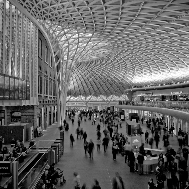 """King's Cross Station"" stock image"