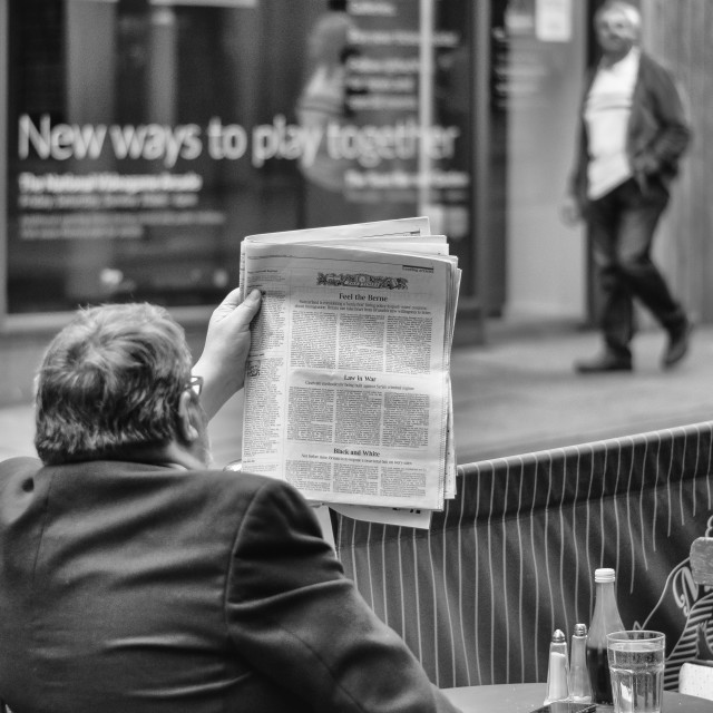 """Black and white ... Newspaper article"" stock image"