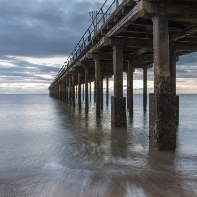 """Felixstowe Pier, Suffolk"" stock image"