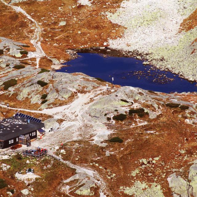 """High Tatras Lake"" stock image"