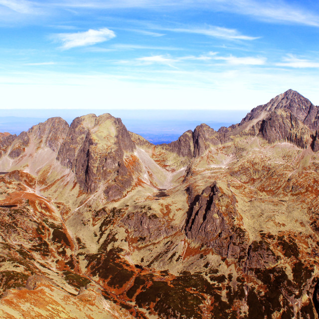 """""""High Tatras Peaks"""" stock image"""