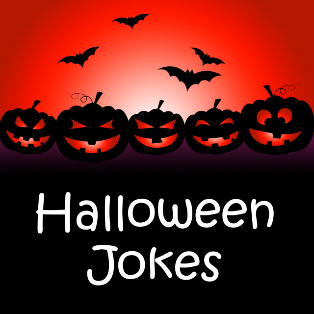 """Halloween Jokes Shows Hilarious And Funny Gags"" stock image"