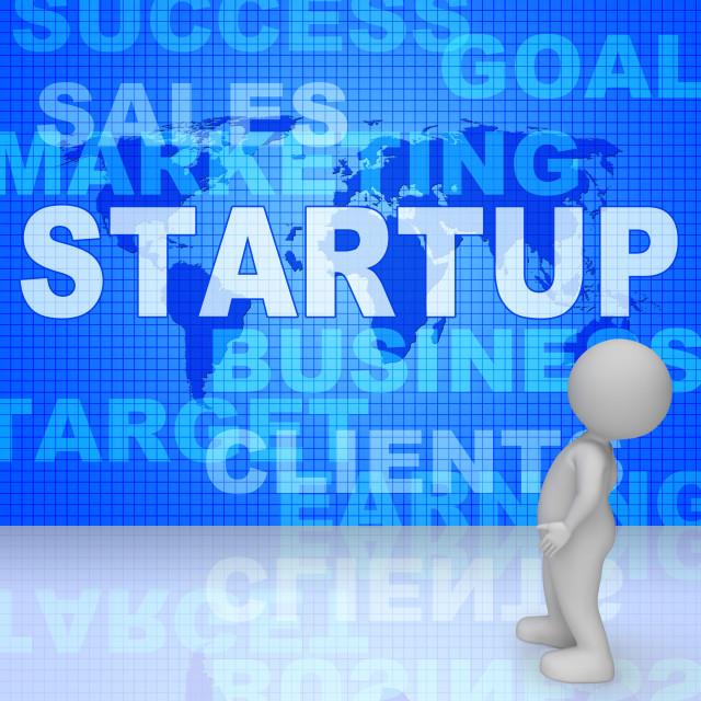 """Startup Word Means Self Employed Entrepreneur 3d Rendering"" stock image"