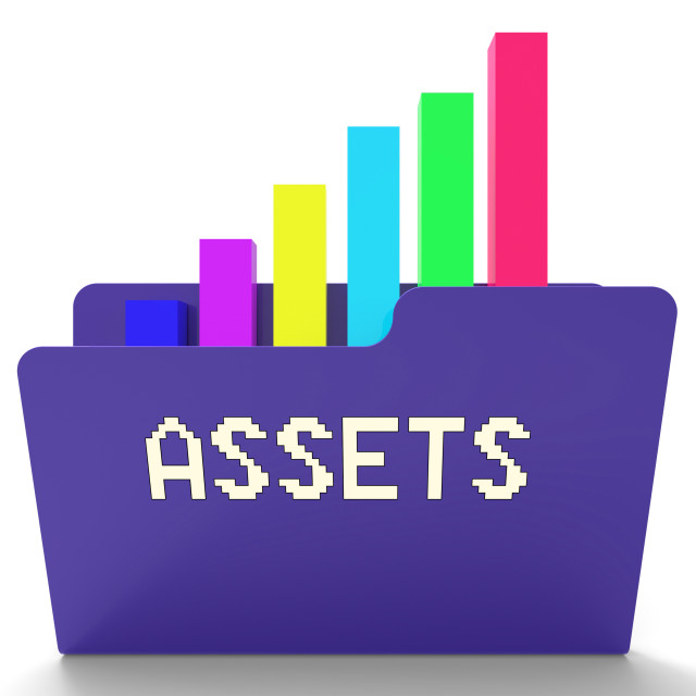 """""""Assets File Indicates Capital Chart 3d Rendering"""" stock image"""