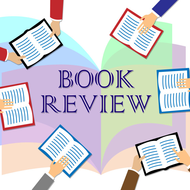 """Book Review Represents Reviewing Fiction And Knowledge"" stock image"