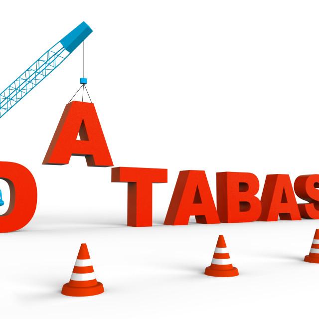 """Build Database Represents Databases Storage 3d Rendering"" stock image"
