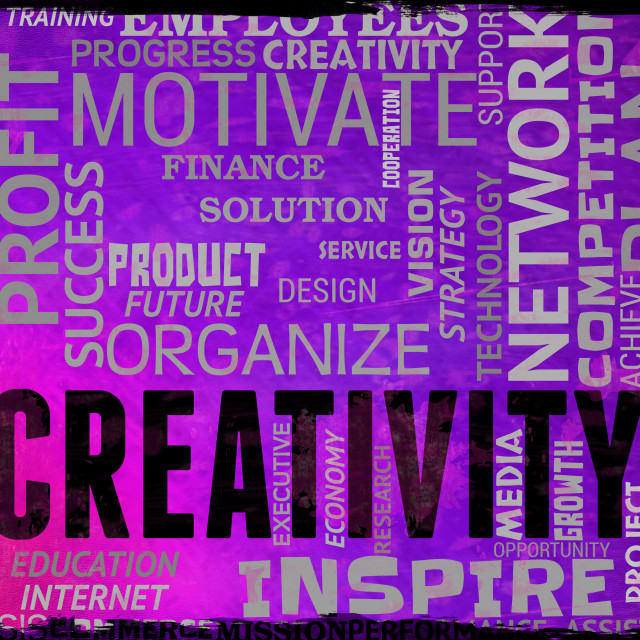 """""""Creativity Words Represents Vision Innovation And Inspiration"""" stock image"""