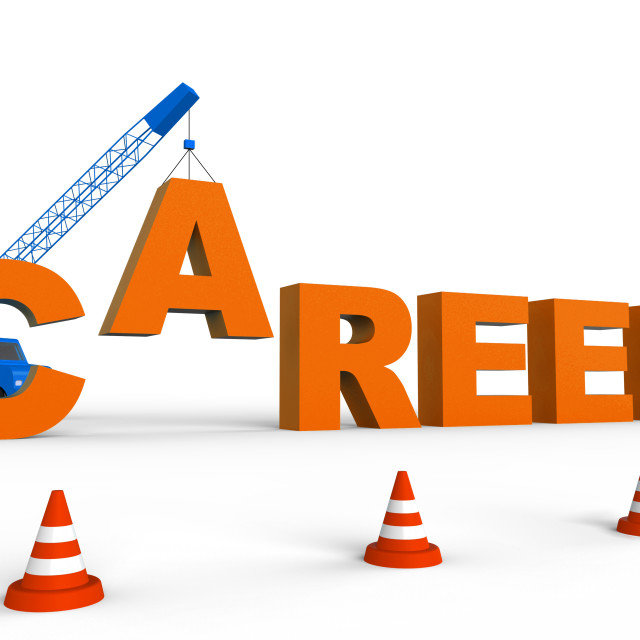 """Career Word Represents Job Search 3d Rendering"" stock image"