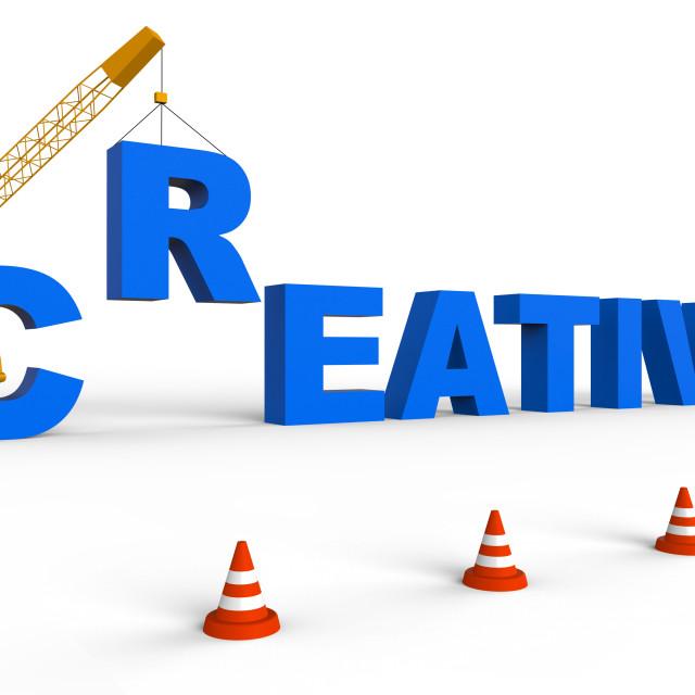 """Creative Work Represents Innovative Ideas 3d Rendering"" stock image"