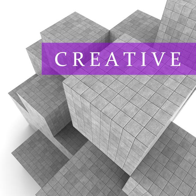"""Creative Blocks Indicates Inspired Ideas 3d Rendering"" stock image"