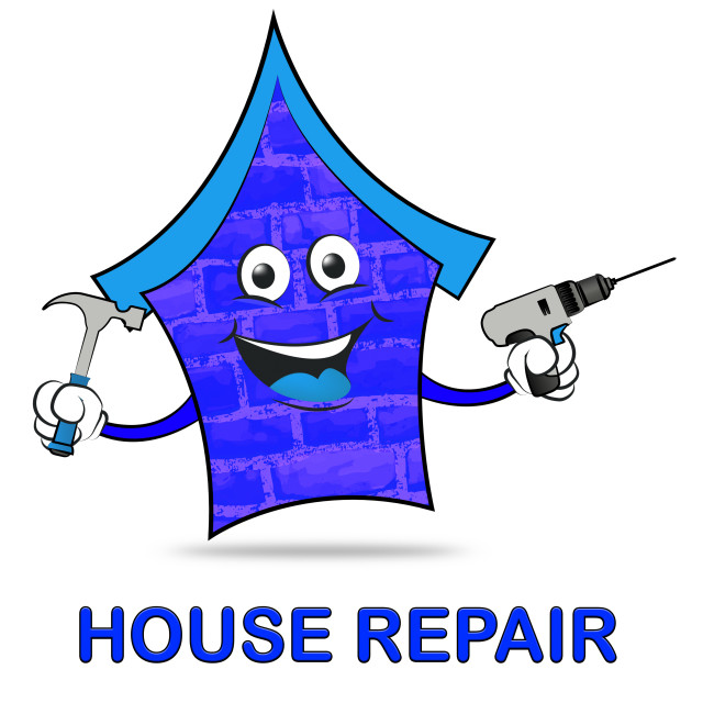"""House Repair Represents Home Mending And Fixing"" stock image"