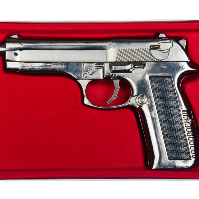 """""""Hand gun isolated on the white background"""" stock image"""