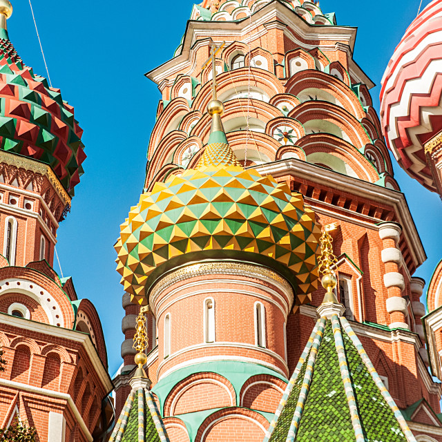 """Famous st Vasily Blessed cathedral in Moscow"" stock image"