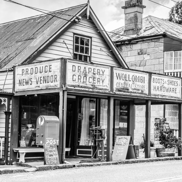 """Country General store - Black and white"" stock image"