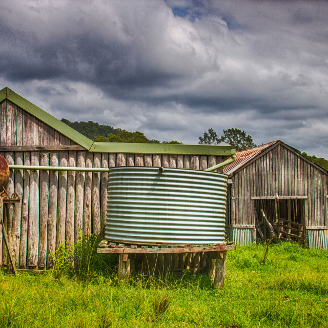 """Old Cow Shed Wollombi Australia"" stock image"