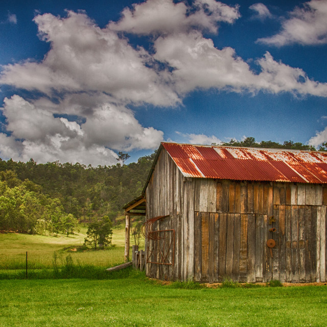 """Old Hay shed at Wollombi country Australia"" stock image"