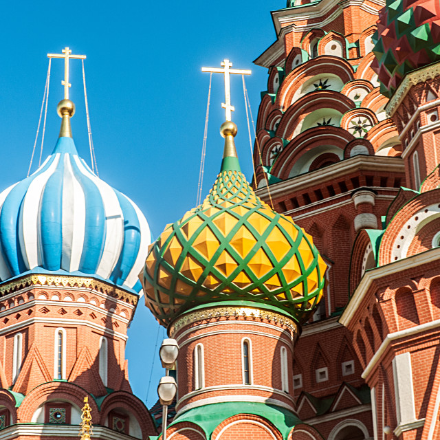 """""""Famous st Vasily Blessed cathedral in Moscow"""" stock image"""
