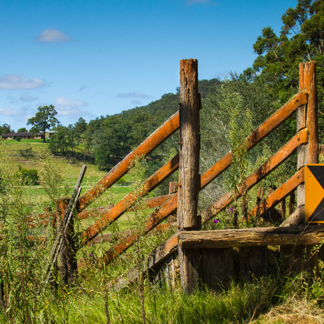 """Cattle loading ramp"" stock image"