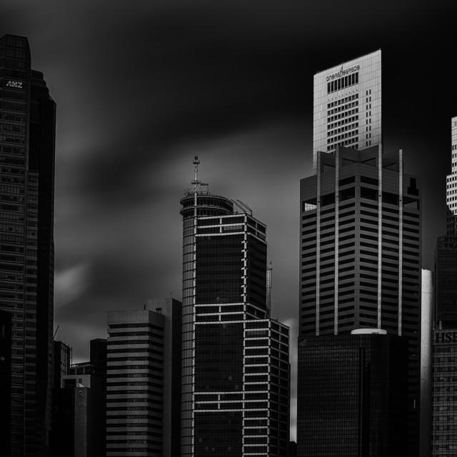 """Singapore Cityscape - Study 4"" stock image"