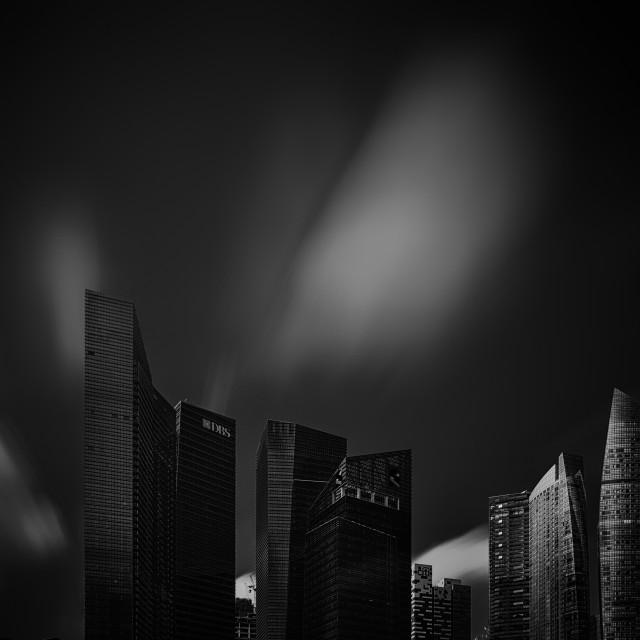 """Singapore Cityscape - Study 2"" stock image"