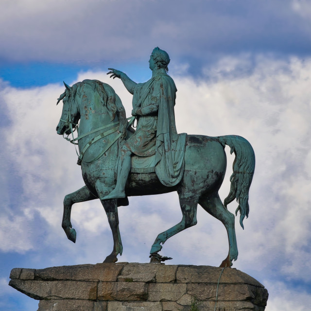 """King George III statue"" stock image"