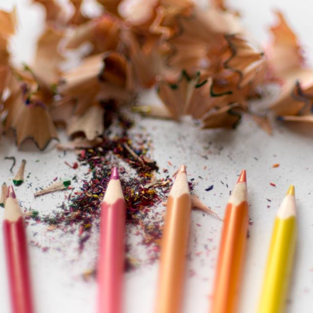"""Color pencils"" stock image"
