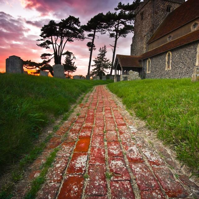 """""""Bedding ham Church, Sussex"""" stock image"""