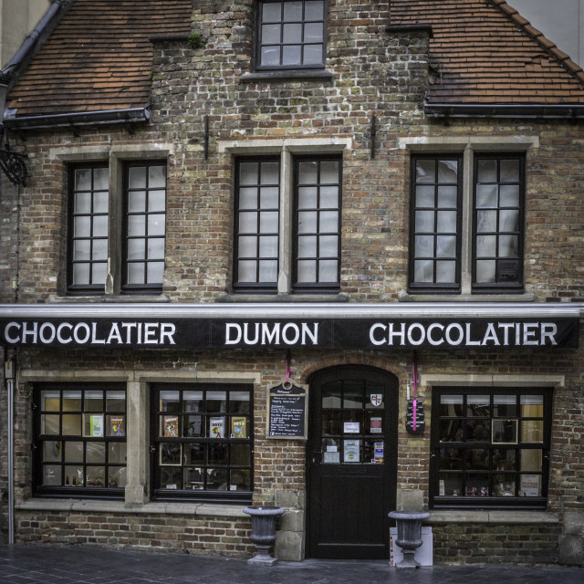 """Dumon Chocolatier"" stock image"