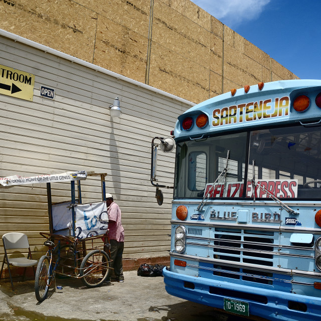 """Sarteneja Bus Service"" stock image"