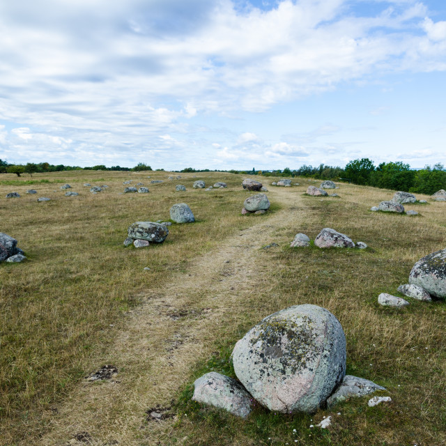 """""""Footpath by ancient gravestones"""" stock image"""