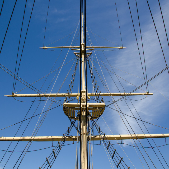 """Ship rigging"" stock image"