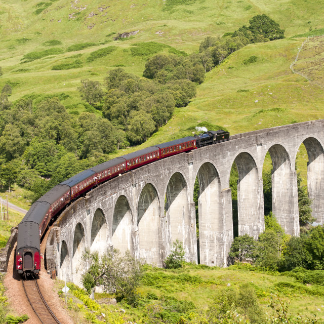 """Glenfinnan Viaduct, Scotland"" stock image"