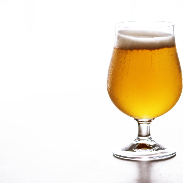 """A cold glass of beer"" stock image"