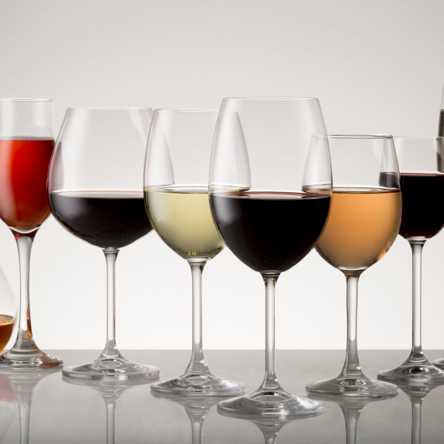 """Collection of Stemware"" stock image"
