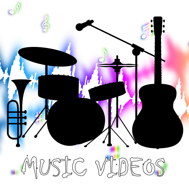 """""""Music Videos Represents Audio Visual And Acoustic"""" stock image"""
