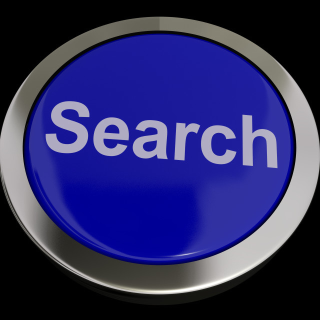 """""""Search Button Showing Internet Access And Online Research"""" stock image"""