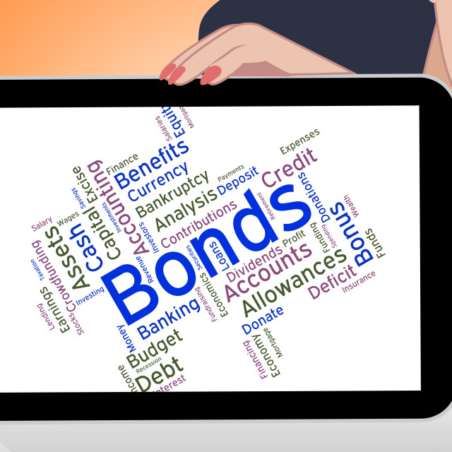 """""""Bonds Word Means Financial Obligation And Arrears"""" stock image"""