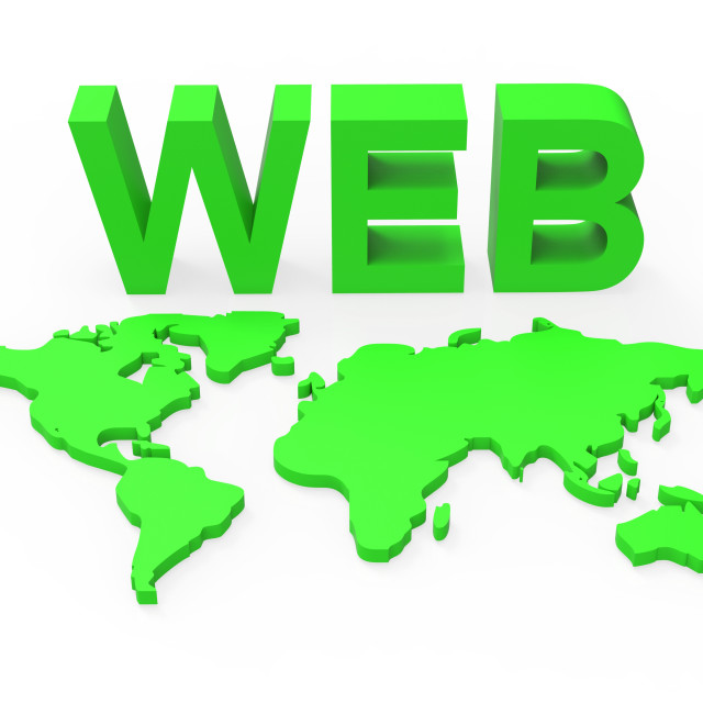 """Web World Represents Globalisation Www And Website"" stock image"