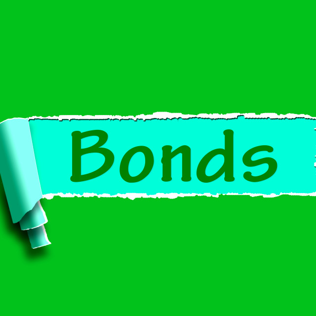 """""""Bonds Word Means Online Business Connections And Networking"""" stock image"""