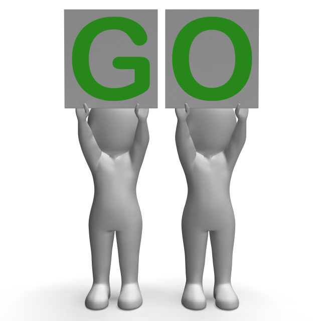 """""""GO Banners Show Car Race Start Or Motivation"""" stock image"""