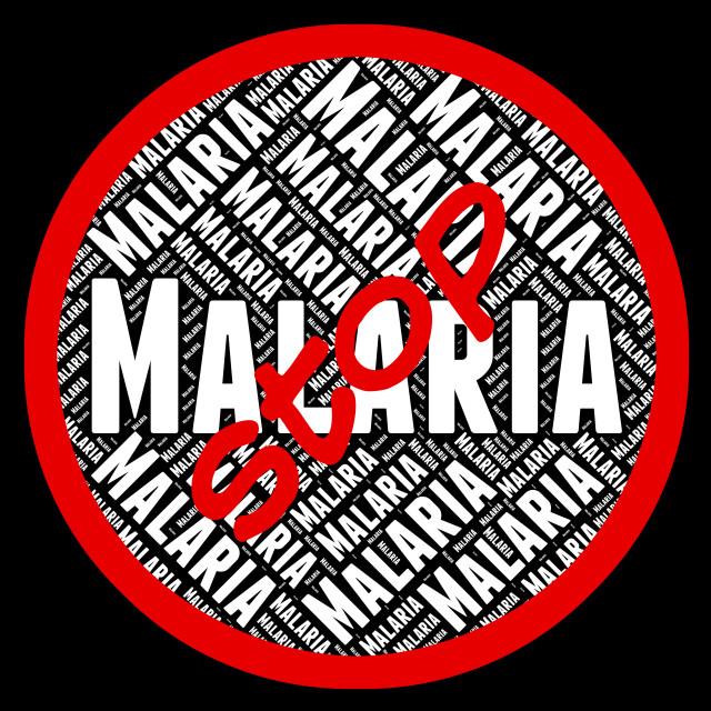 """Stop Malaria Represents Stops Prohibit And No"" stock image"