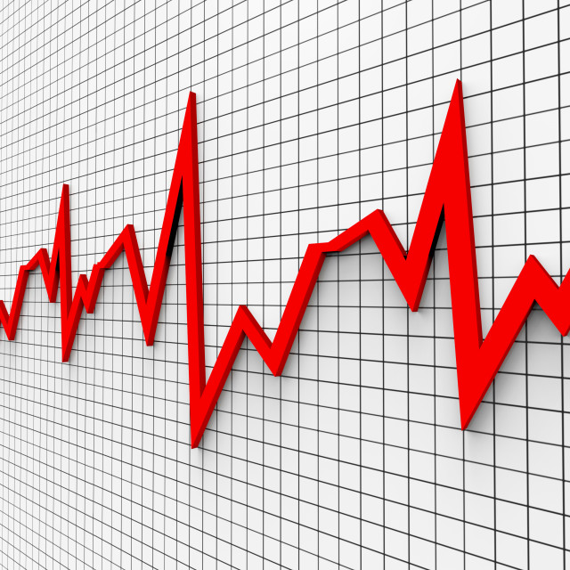 """Heartbeat Chart Shows Flat Screen And Cardiograph"" stock image"