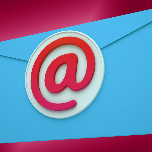 """Email Envelope Shows Global Correspondence Post Online"" stock image"