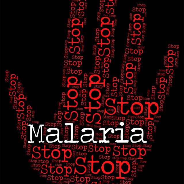 """""""Stop Malaria Represents Warning Sign And Disease"""" stock image"""