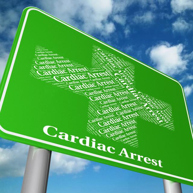 """Cardiac Arrest Shows Congestive Heart Failure And Complaint"" stock image"