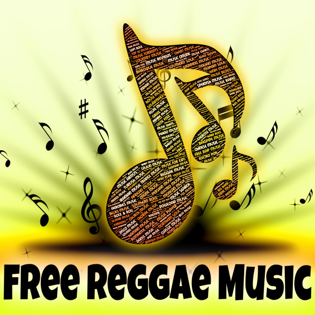 """Free Reggae Music Shows For Nothing And Calypso"" stock image"