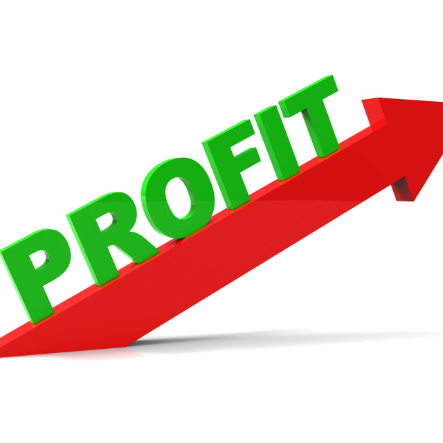 """Increase Profit Means Upwards Raise And Revenue"" stock image"