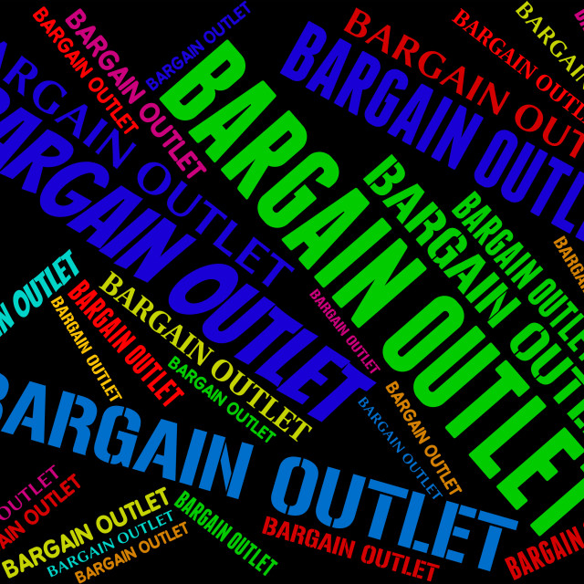 """Bargain Outlet Represents Market Discount And Discounts"" stock image"